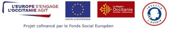 Bloc marque : région Occitanie, FSE, PIC