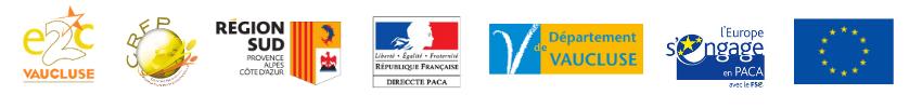 E2C Vaucluse - bandeau logos